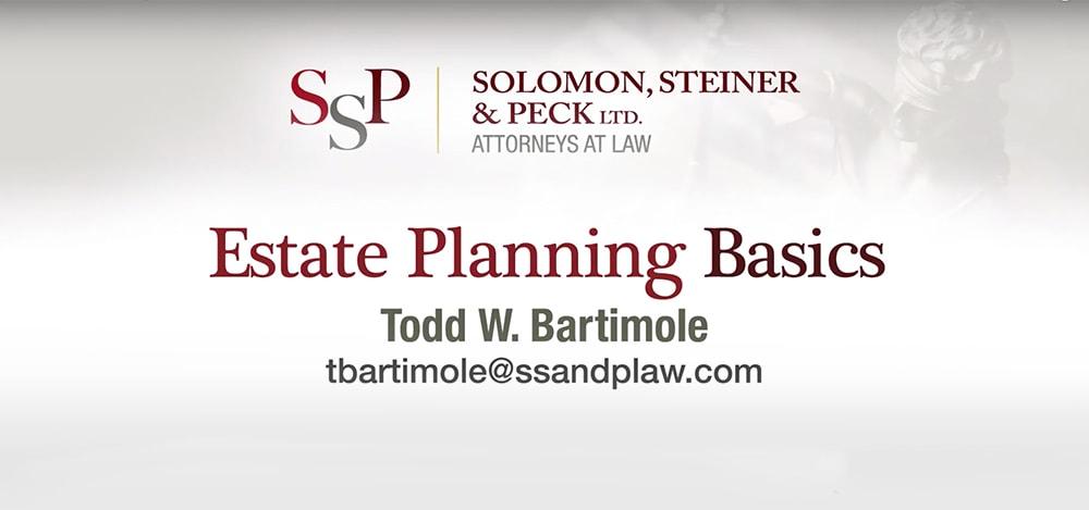 estate planning basics video cover
